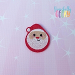 Santa ornament Feltie ITH Embroidery Design 4x4 hoop (and larger)