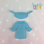 Girl Surgeon Dress Up Outfit ONLY - Embroidery Design 5x7 hoop or larger