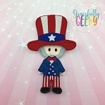 Uncle Sam Dress up Doll  - Embroidery Design 5x7 hoop or larger