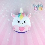 Unicorn Easter Egg Stuffie Embroidery Design - 5x7 Hoop or Larger