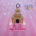 Gingerbread Castle Countdown to Christmas Embroidery Design