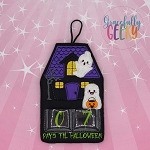 Haunted House Countdown to Halloween Embroidery Design