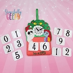 Nightmare Countdown to Christmas Embroidery Design - 5x7 Hoop or Larger