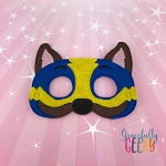 Mighty Cop Dog Mask Embroidery Design - 5x7 Hoop or Larger