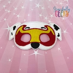Mighty M Dog Mask Embroidery Design - 5x7 Hoop or Larger