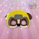 Mighty R Dog Mask Embroidery Design - 5x7 Hoop or Larger
