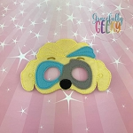 Mighty Twin Boy Mask Embroidery Design - 5x7 Hoop or Larger