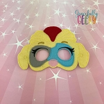 Mighty Twin Girl Mask Embroidery Design - 5x7 Hoop or Larger