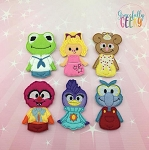 Puppet Babies finger puppet set - Embroidery Design