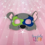Mighty Rock Dog Mask Embroidery Design - 5x7 Hoop or Larger