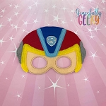 Mighty Rider Mask Embroidery Design - 5x7 Hoop or Larger