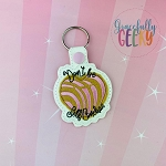 Self Conchas Snap Keychain ITH Embroidery Design - 5x7 Hoop or Larger