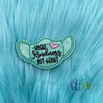 Spread Kindness Mask Feltie ITH Embroidery Design 4x4 hoop (and larger)