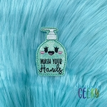 Wash Your Hands Feltie ITH Embroidery Design 4x4 hoop (and larger)
