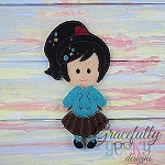 Penelope Dress up Doll - Embroidery Design 5x7 hoop or larger