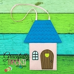 House Bag Embroidery Design - 5x7 Hoop or Larger