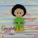 Anthony Dress up Doll - Embroidery Design 5x7 hoop or larger