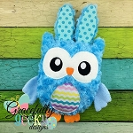 Easter Owl Stuffie ITH Embroidery Design - 5x7 Hoop or larger