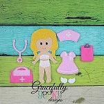 Nurse Dress up Doll - Embroidery Design 5x7 hoop or larger **OUTFIT AND ACCESSORIES ONLY