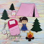 Camping Set (for GGD Dress Up Dolls) - Embroidery Design 5x7 hoop or larger