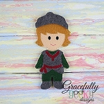 Chris Dress up Doll - Embroidery Design 5x7 hoop or larger