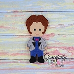Henry Dress up Doll - Embroidery Design 5x7 hoop or larger