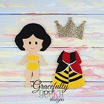 Queen of hearts Girl Outfit  Dress up Outfit (OUTFIT ONLY)- to fit GGD GIRL Dress up dolls - Embroidery Design 5x7 hoop or larger