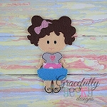 Leia Dress up Doll - Embroidery Design 5x7 hoop or larger