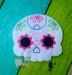 Sugar Skull 1 Feltie Embroidery Design